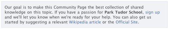 Community Page: Suggest a relevant Wikipedia article or the Official Site